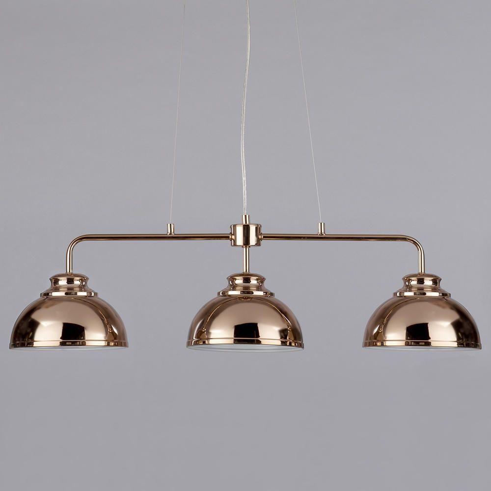 Brooklyn 3 Light Industrial Ceiling Pendant Bar