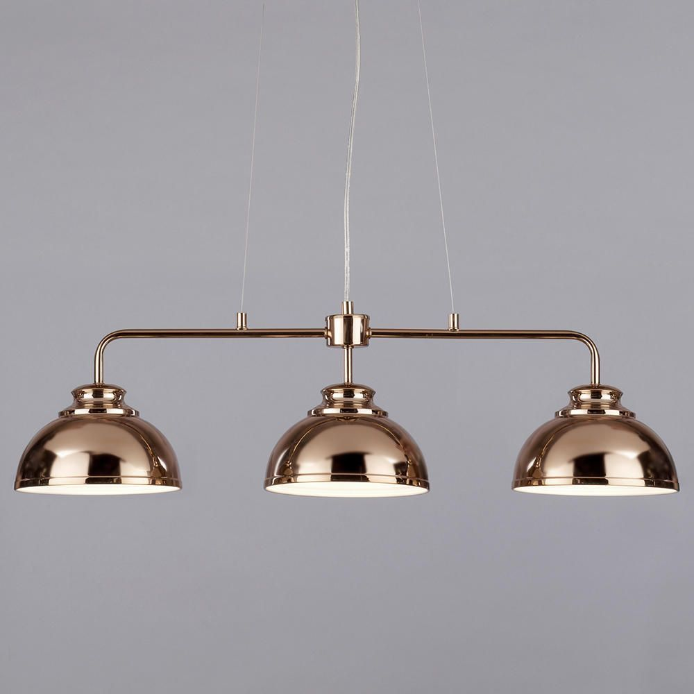 Brooklyn 3 Light Industrial Ceiling Pendant Bar