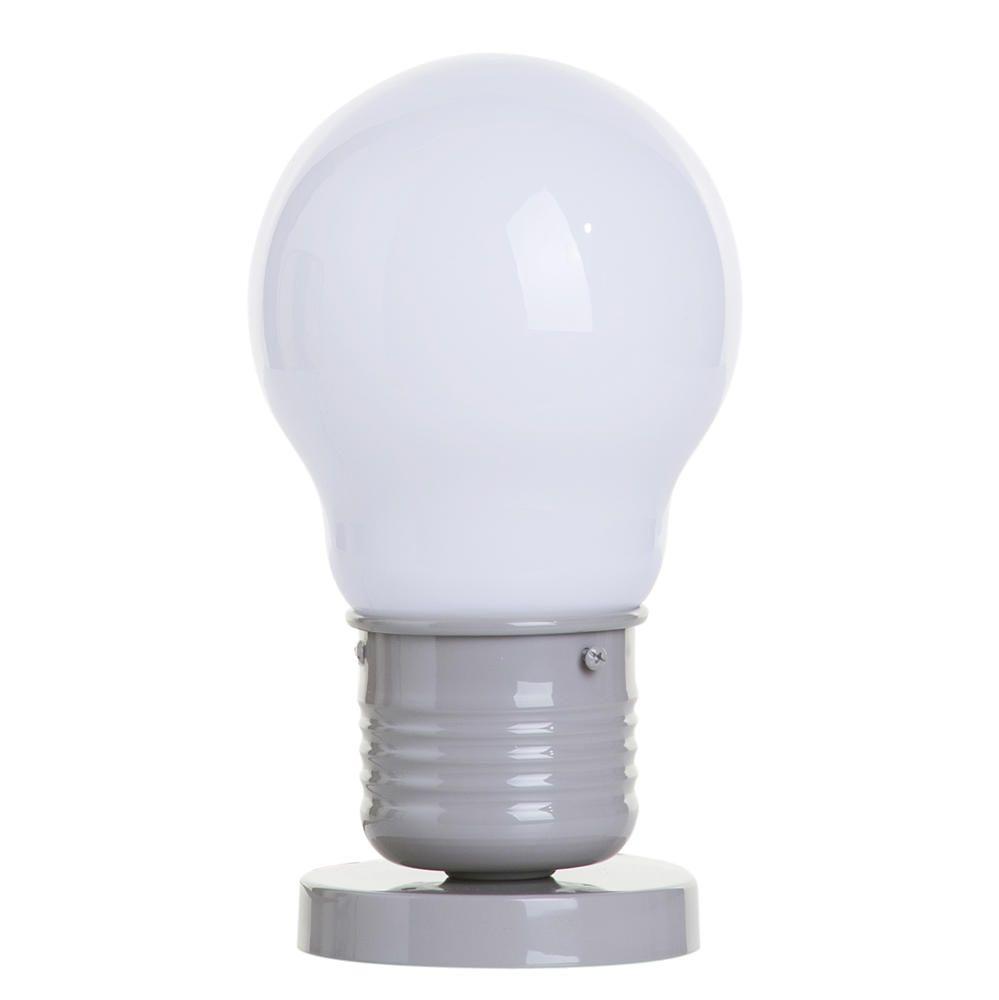 1 Light Large Light Bulb Style Table Lamp  Latte