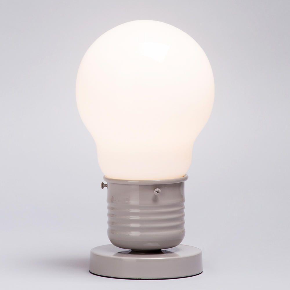 light large light bulb style table lamp latte from litecraft. Black Bedroom Furniture Sets. Home Design Ideas