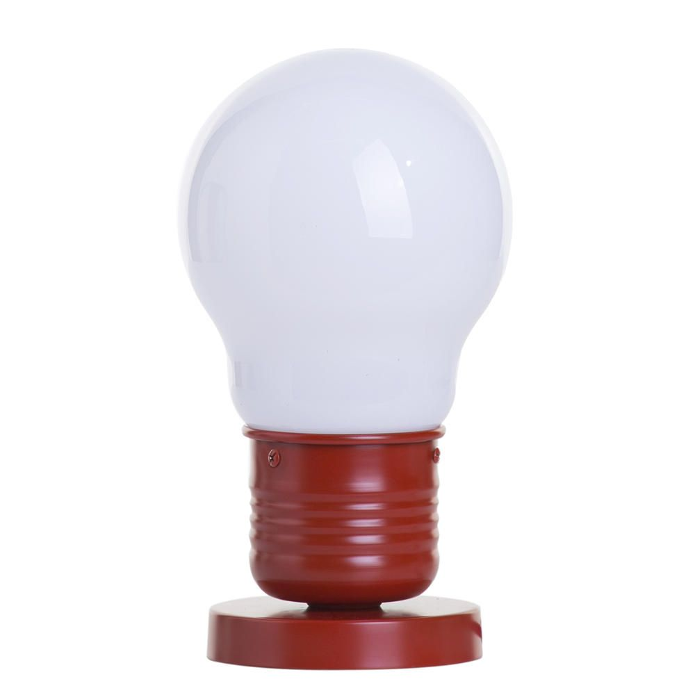 1 Light Large Light Bulb Style Table Lamp Red Of Litecraft