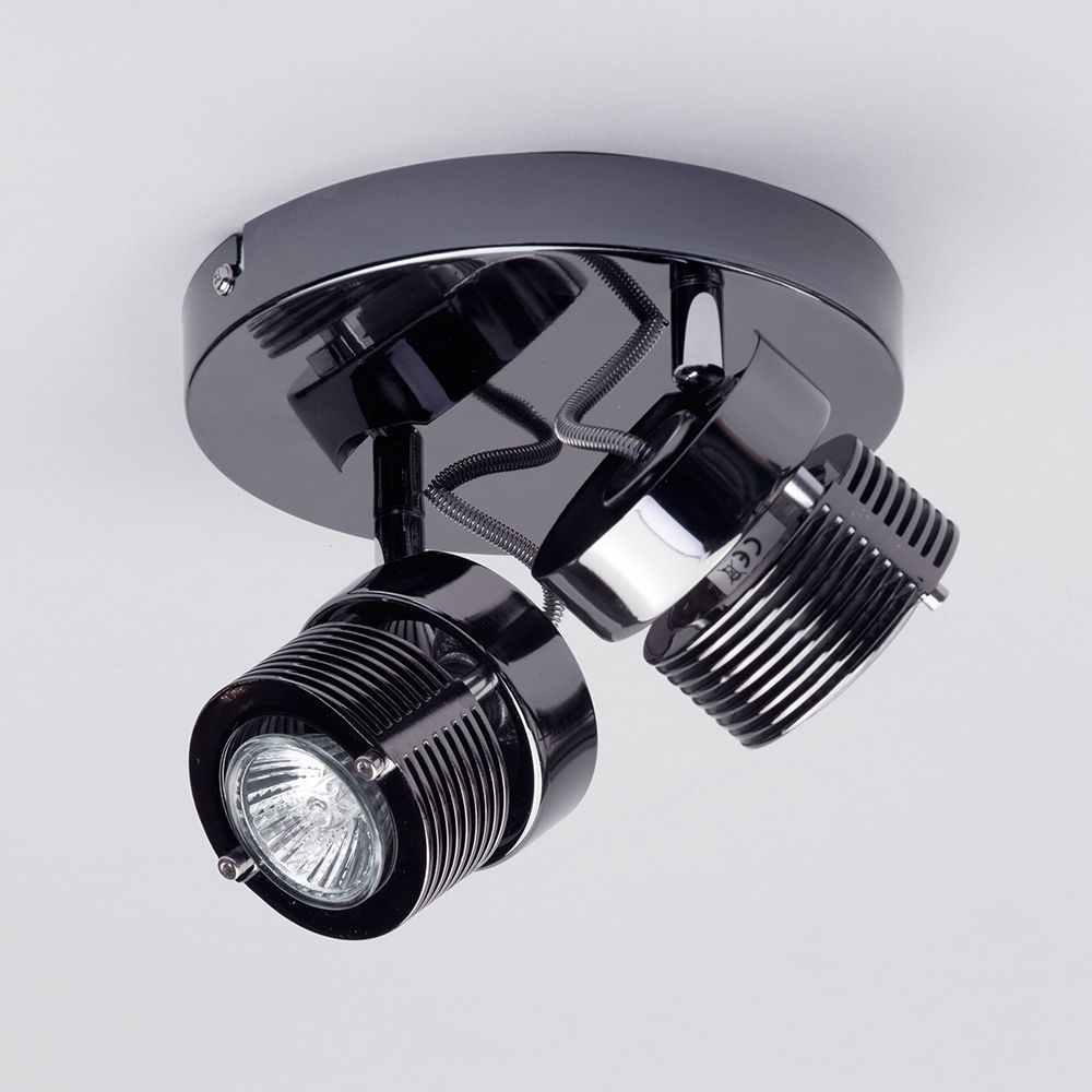A Guide To Kitchen Lighting From Litecraft: 2 Light Cylinder Ceiling Spotlight Plate