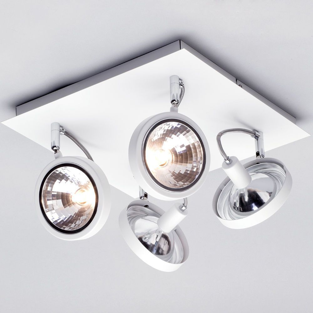 Rosco 4 Light Parabolic Spotlight Plate - White | Litecraft.co.uk