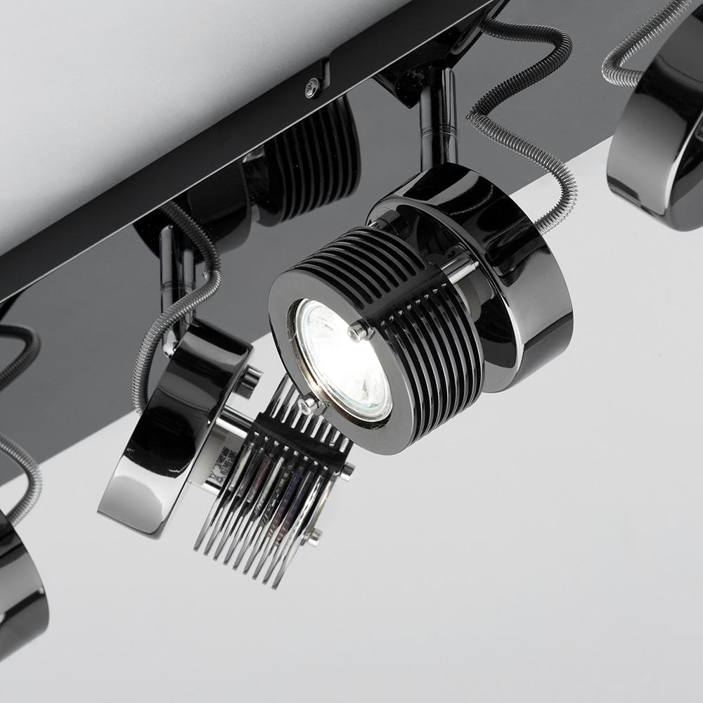 telford 6 light adjustable spotlight bar black chrome