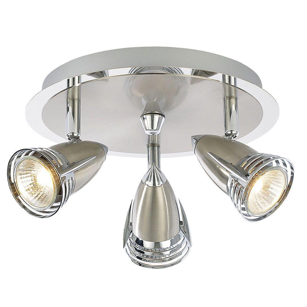Gemini Adjustable Ceiling Spotlight Plate Satin Chrome