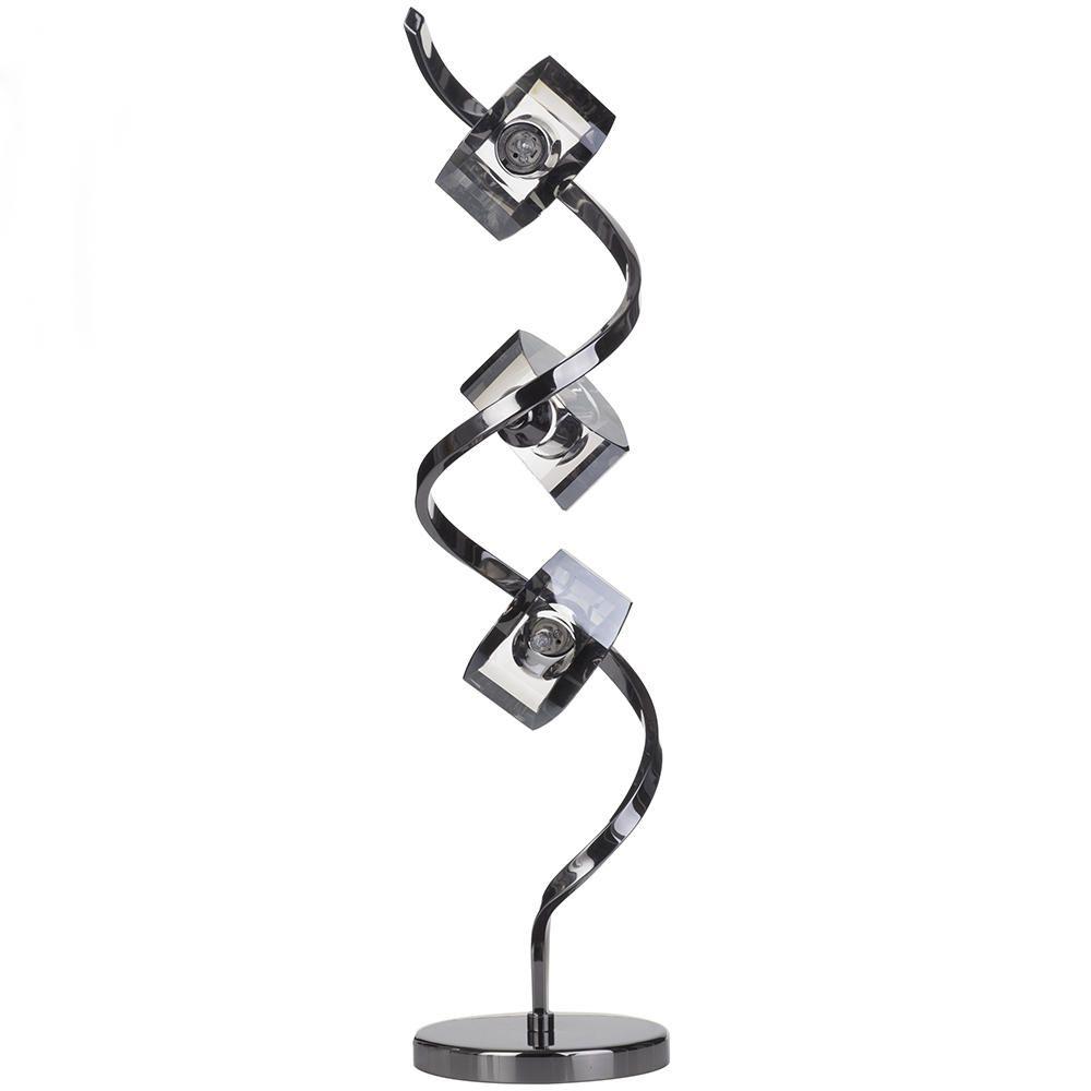 black chrome table lamp twist with smoke glass