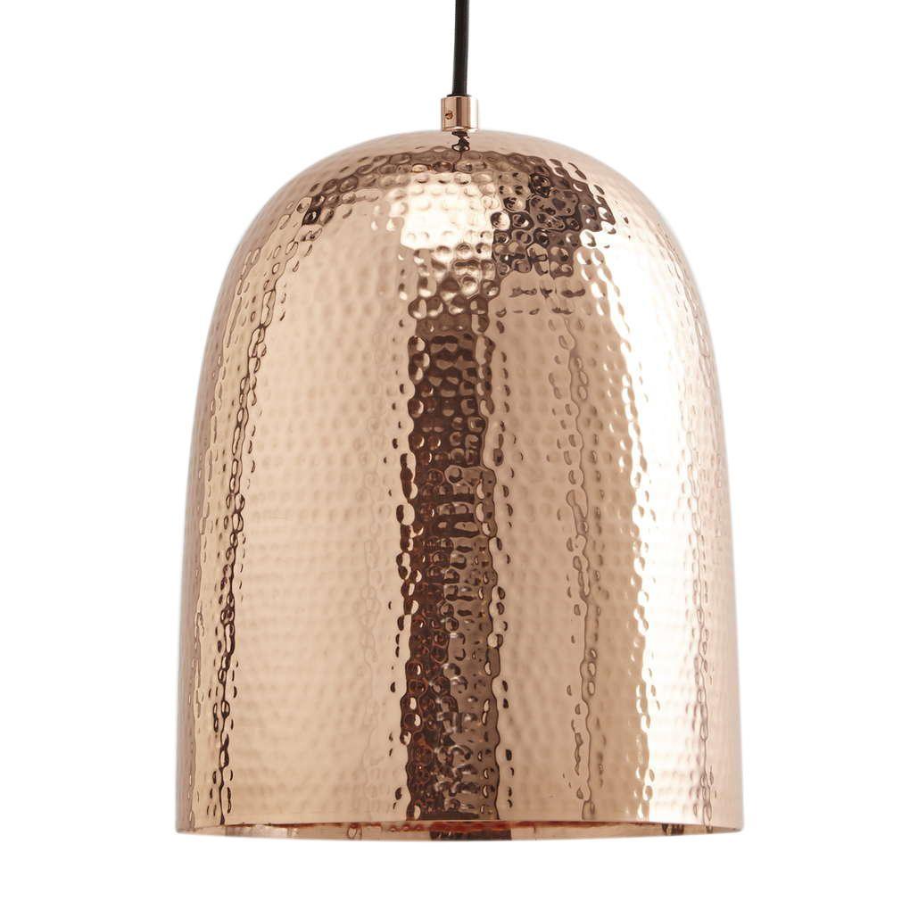 1 Light Copper Dome Ceiling Pendant Copper
