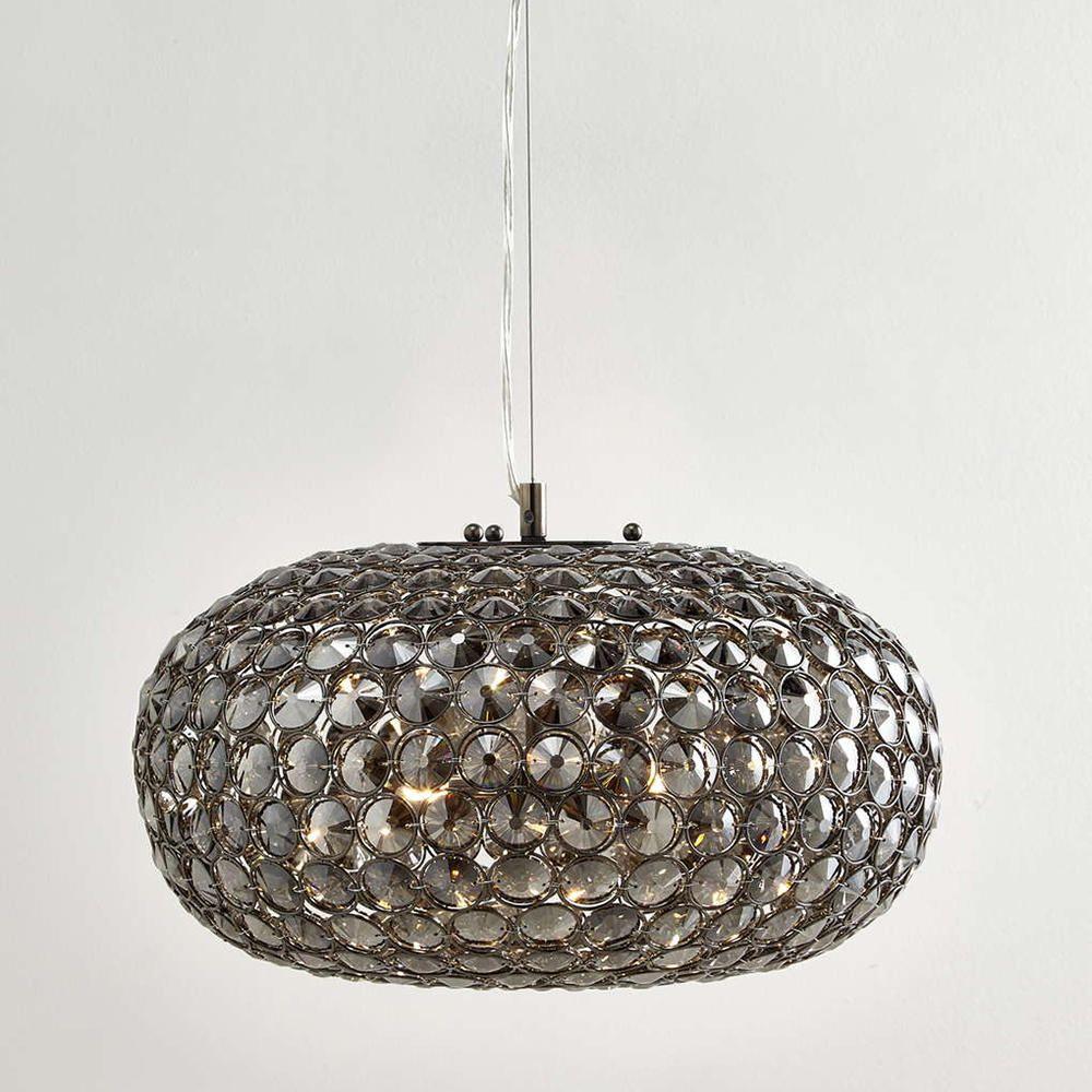 Kensington 3 Light Glass Mesh Ceiling Pendant