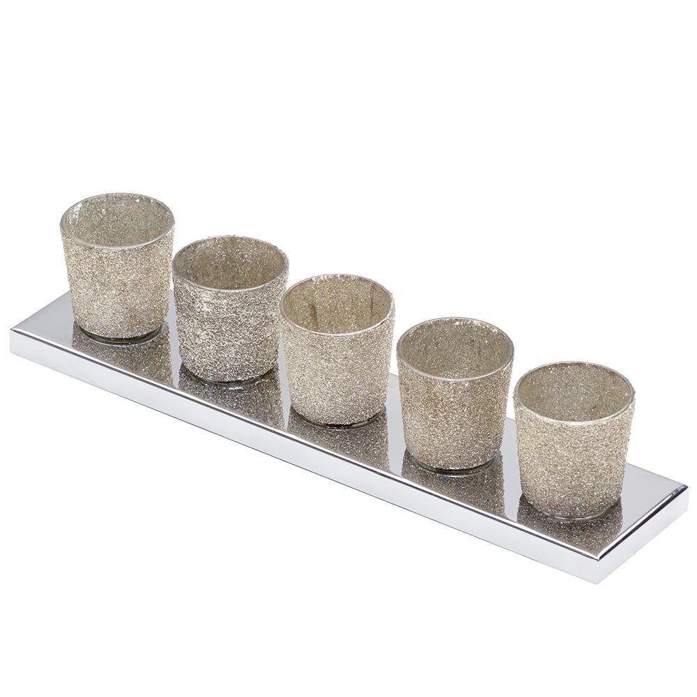5 Light Ceramic Cup Table Lamp Bar Gold