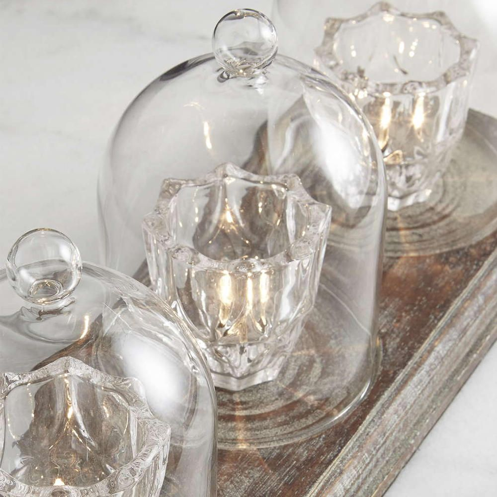 3 Light Small Glass Jar Tea Cup Light Decorative Home