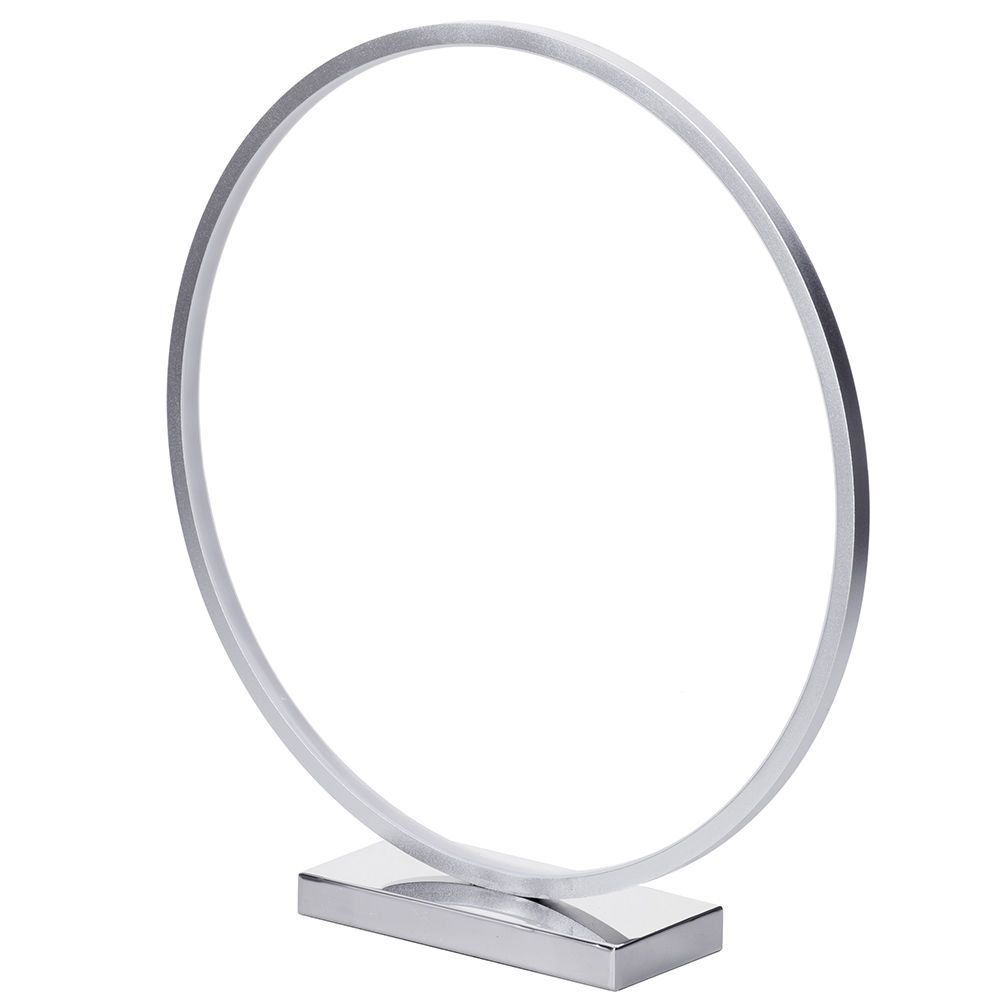 circular led table lamp  chrome from litecraft - circular led table lamp  chrome fastfree delivery