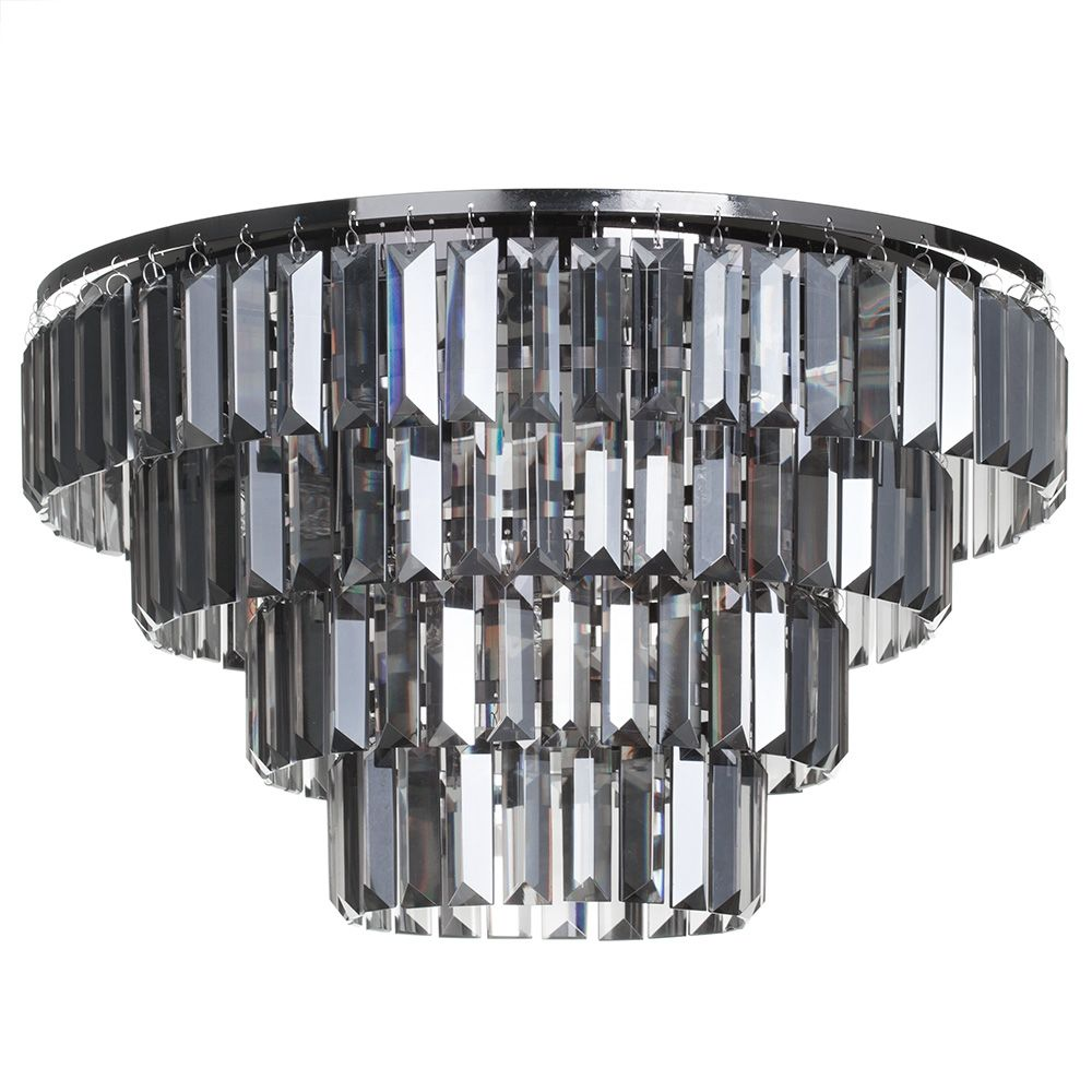 4 Tier 5 Light Flush Ceiling Light with Smoke Chisel Prism Bars - Chrome  sc 1 th 225 & Lighting Light Bulbs u0026 Accessories Home Decor Mirrors UK | Shop ... azcodes.com