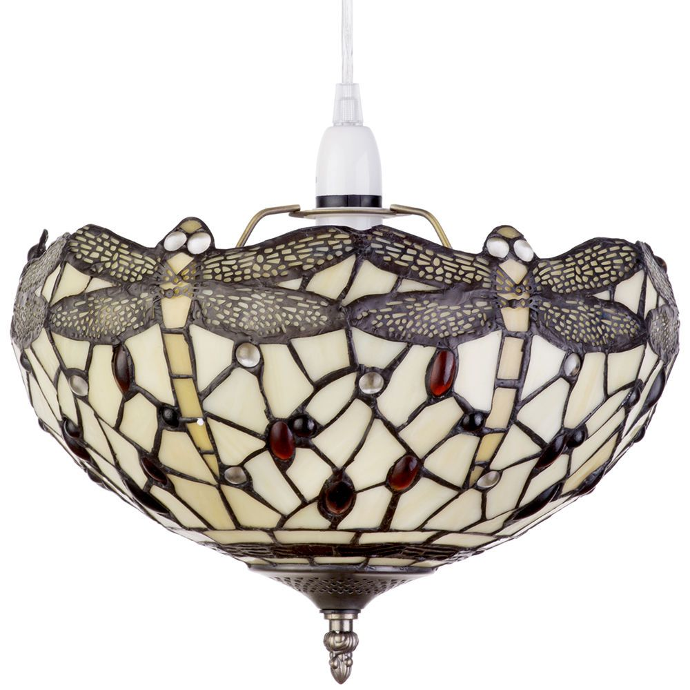 Easy Ceiling Lamp Shade: Tiffany Inspired Upligther Decorative Ceiling Light Or