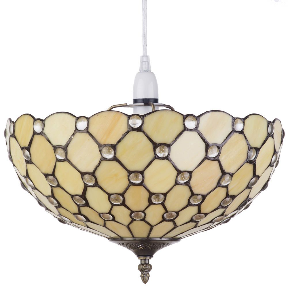 Tiffany light shade easy to fit deep dish ceiling or lamp shade ceiling lamp shade honey fastfree delivery aloadofball Image collections