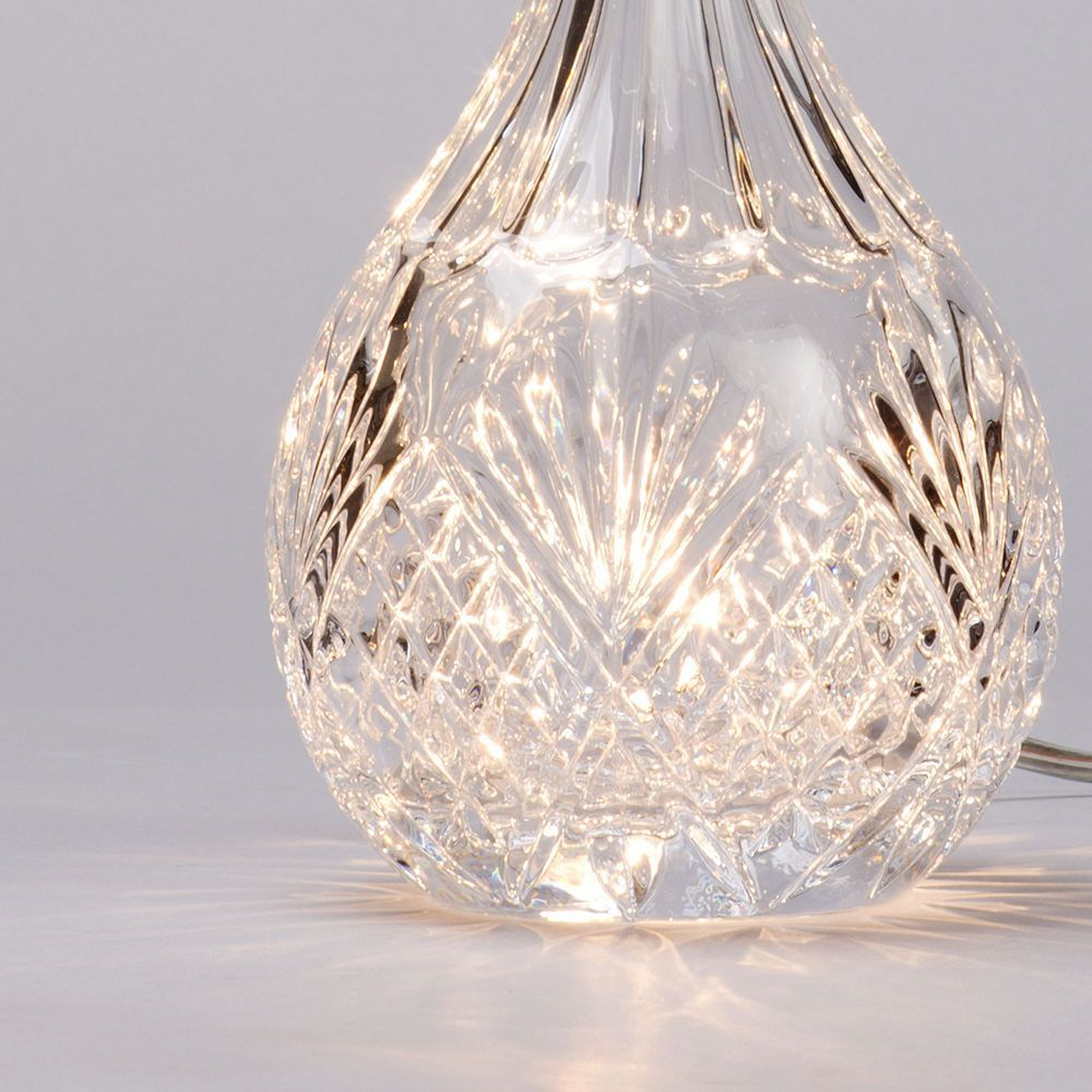 1 light round vintage decanter table lamp glass from litecraft cut glass table lamp mozeypictures Gallery