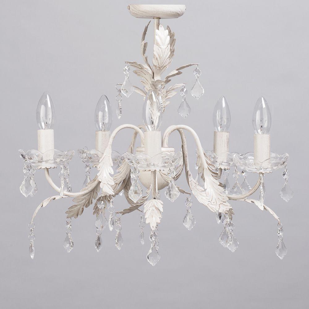 Romeo 5 light chandelier cream gold from litecraft vintage cream gold semi flush chandelier mozeypictures Images