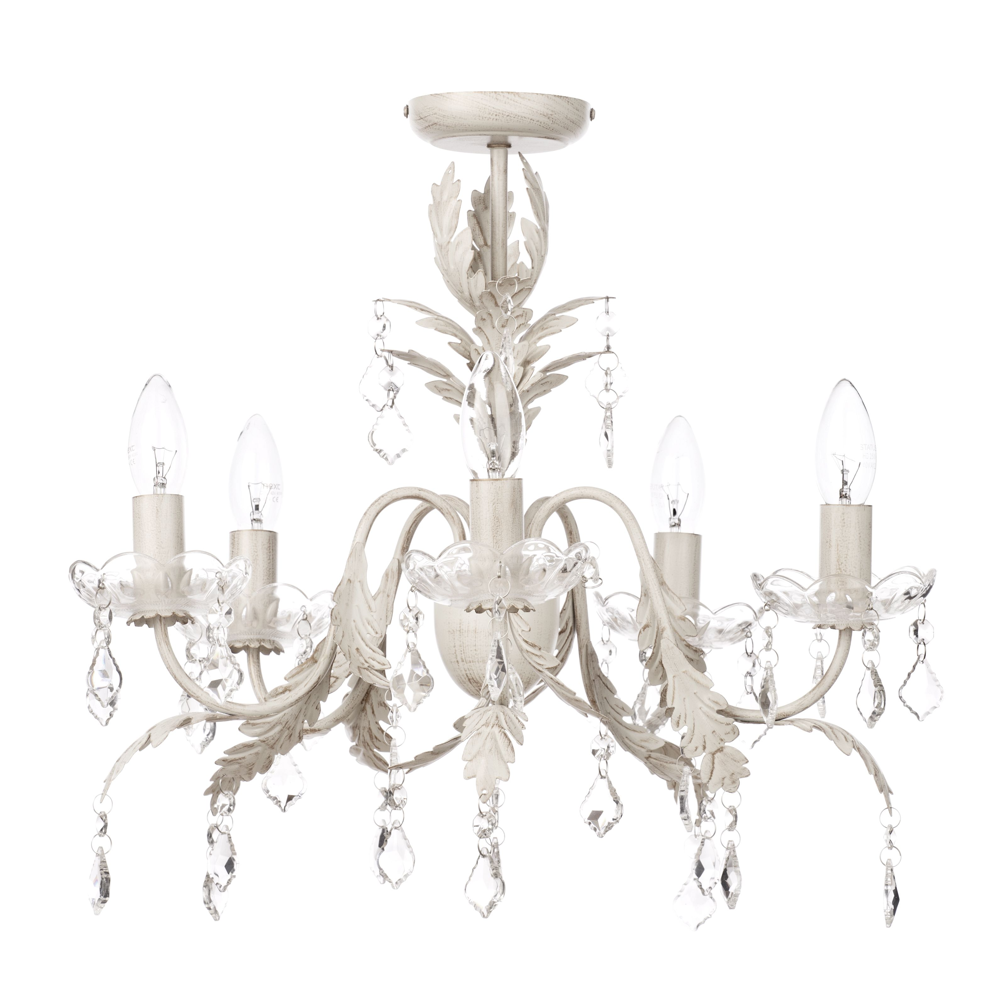 Romeo 5 light chandelier cream gold from litecraft romeo 5 light chandelier cream gold fastfree delivery mozeypictures Images
