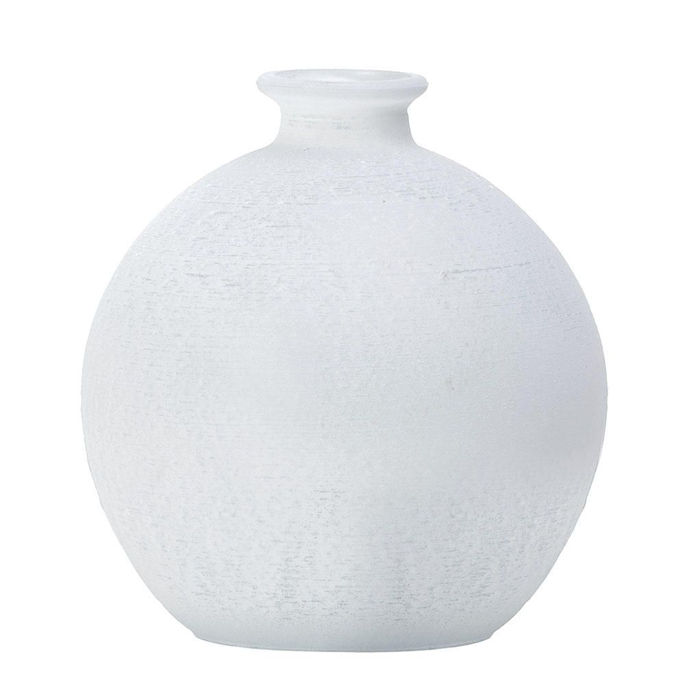 Small Globe Frosted Glass Vase Table Lamp White From