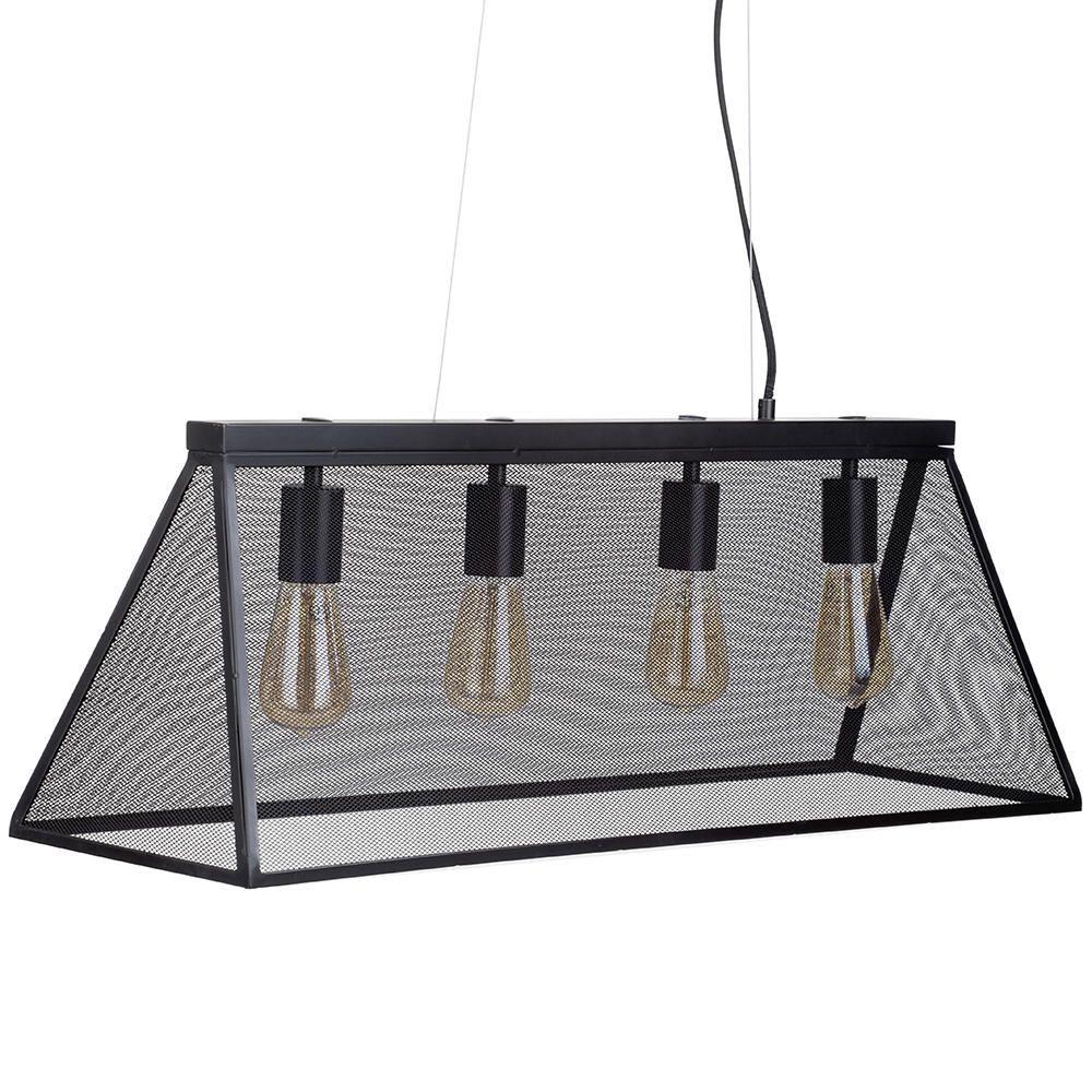 4 Light Pyramid Mesh Ceiling Pendant