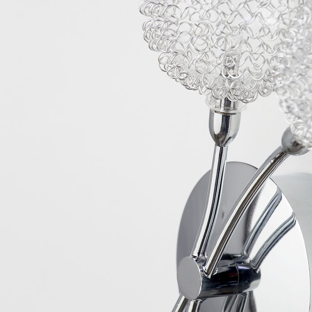 Chrome Kitchen Wall Lights : 2 Light Allium Wire Wall Light - Chrome From Litecraft