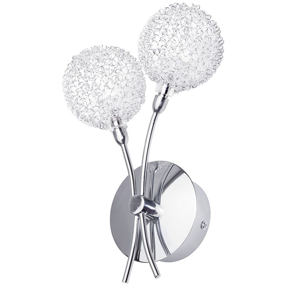 Bhs Allium Wall Lights : 2 Light Allium Wire Wall Light - Chrome From Litecraft