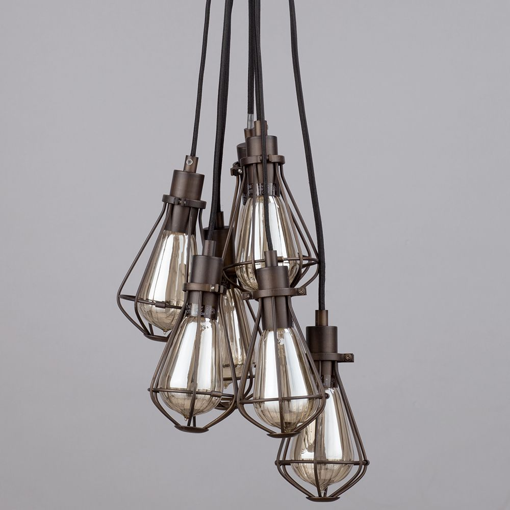 Amazing Exposed Bulb Cluster Pendant Light With Cluster Pendant Light.