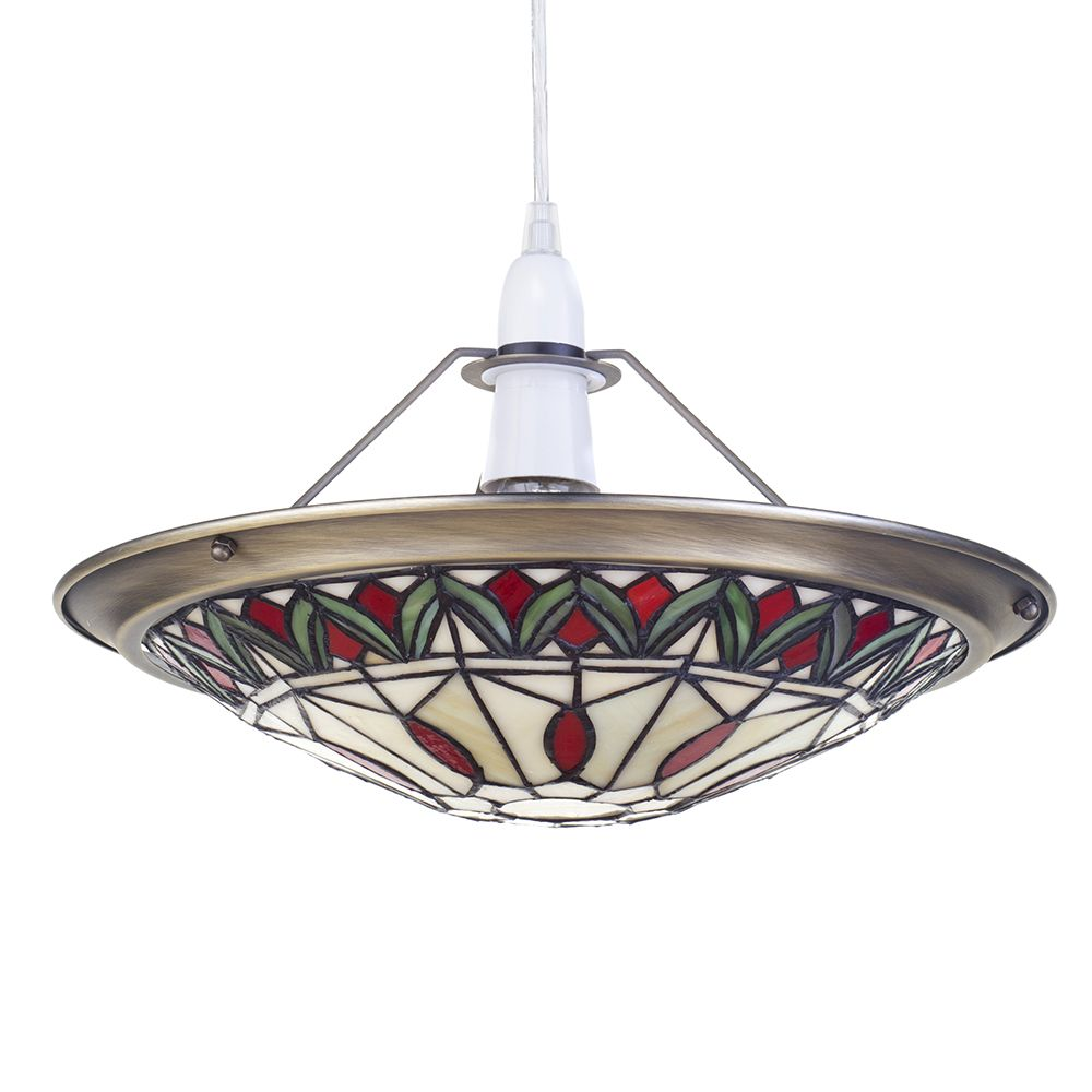 Easy Ceiling Lamp Shade: Easy Fit Ceiling Light Lamp Glass Tiffany Inspired