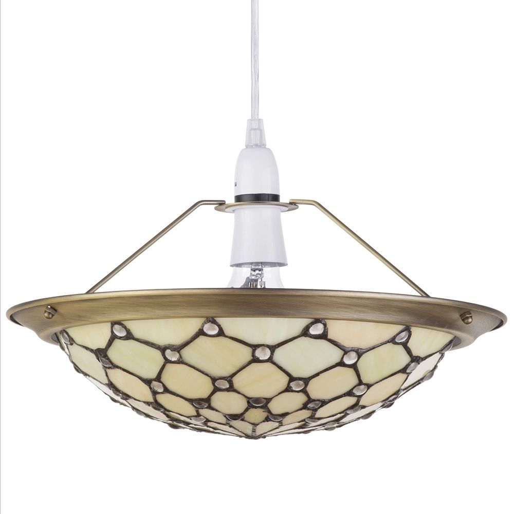 Easy fit ceiling light lamp glass tiffany style uplighter shade easy fit ceiling light lamp glass tiffany style uplighter shade yellow litecraft aloadofball Image collections