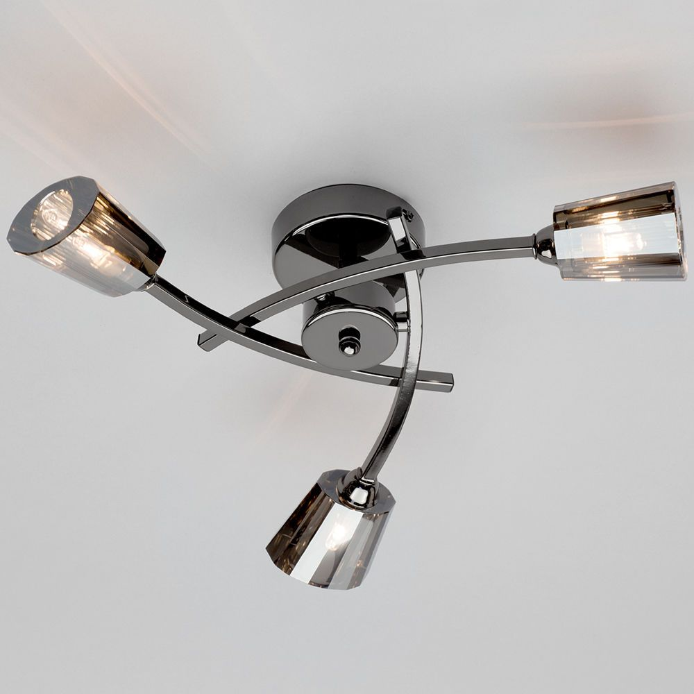 Vortex 3 Light Semi Flush Ceiling Light