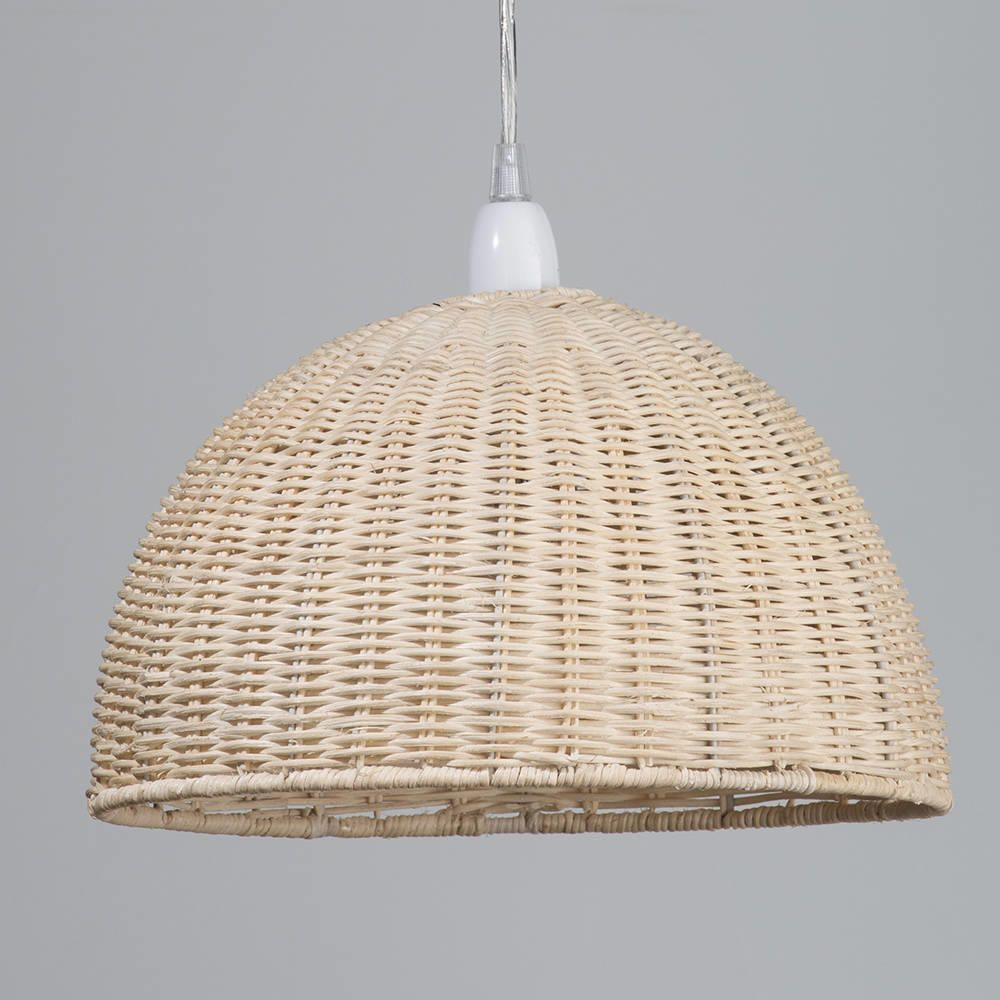 Wicker dome easy to fit ceiling light shade from litecraft use natural materials in interior with this beautiful wood ceiling light shade aloadofball Choice Image