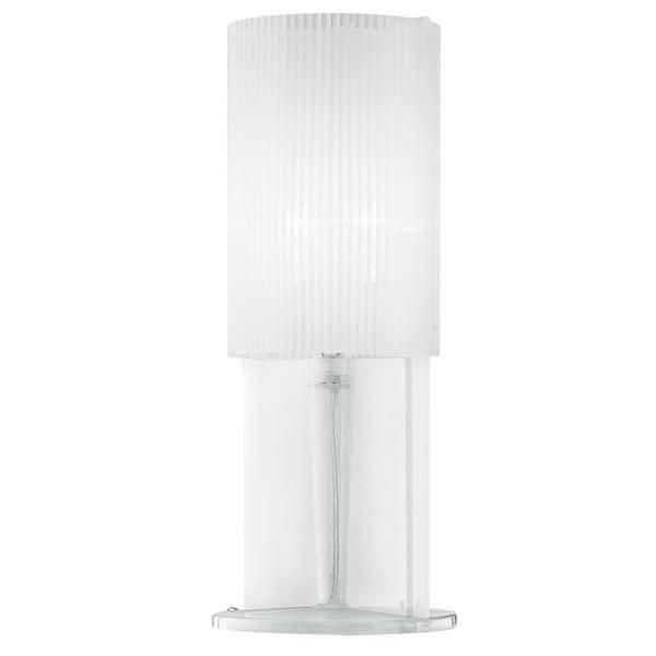 White acrylic ribbed table lamp from litecraft acrylic table lamp fastfree delivery aloadofball Image collections