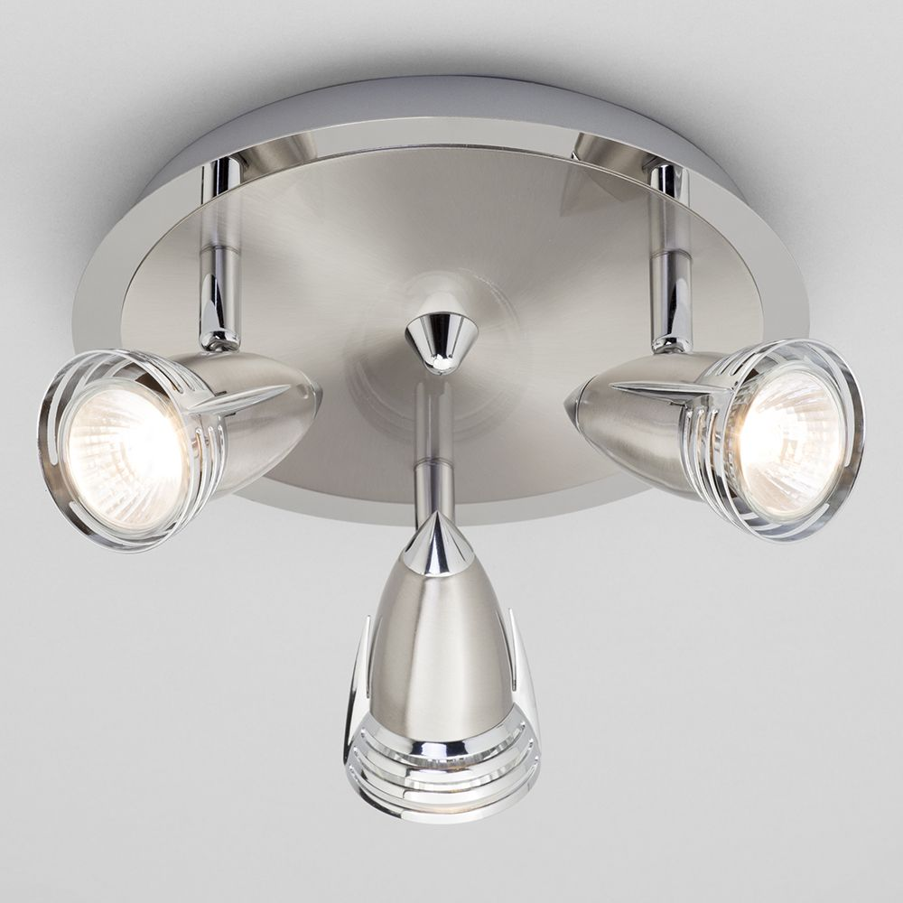 Gemini Ceiling Spotlight Plate Light Satin Nickel From Litecraft - Kitchen spot light fittings