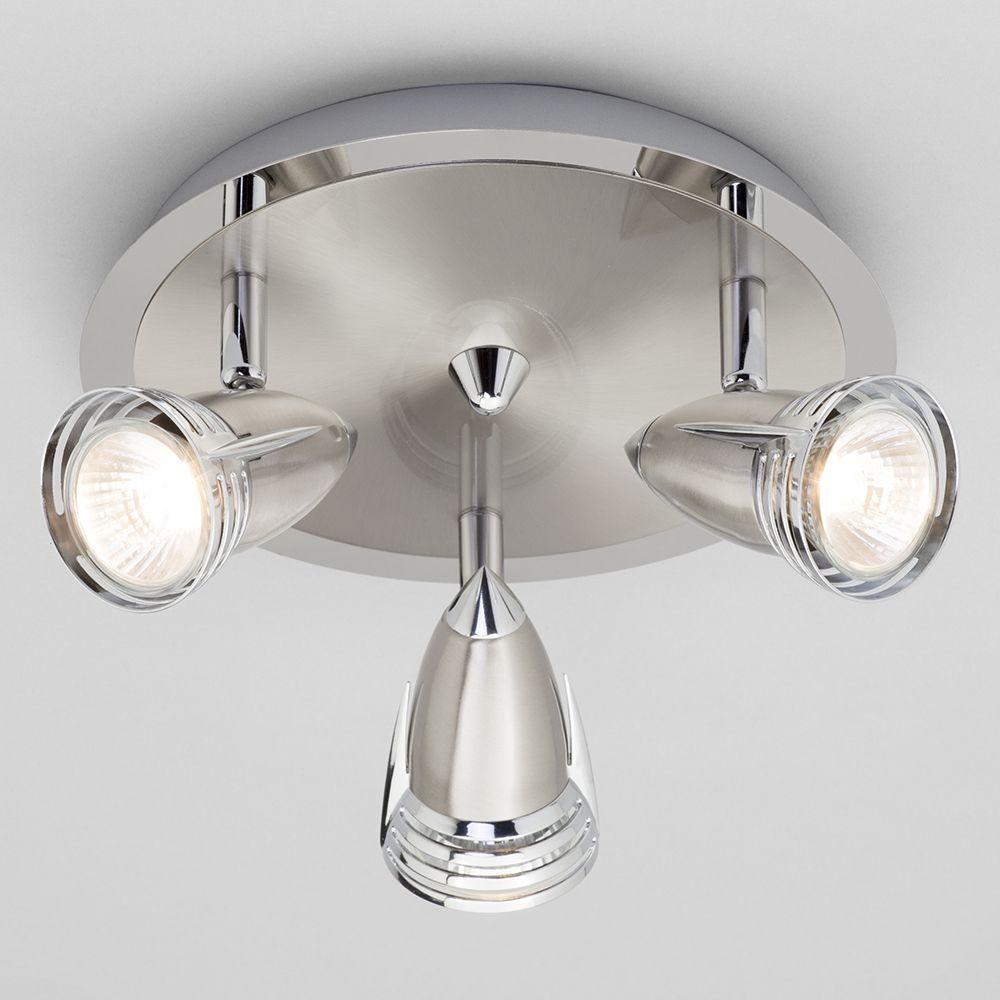 Gemini Ceiling Spotlight Plate Light Satin Nickel From Litecraft - Kitchen spot light fittings
