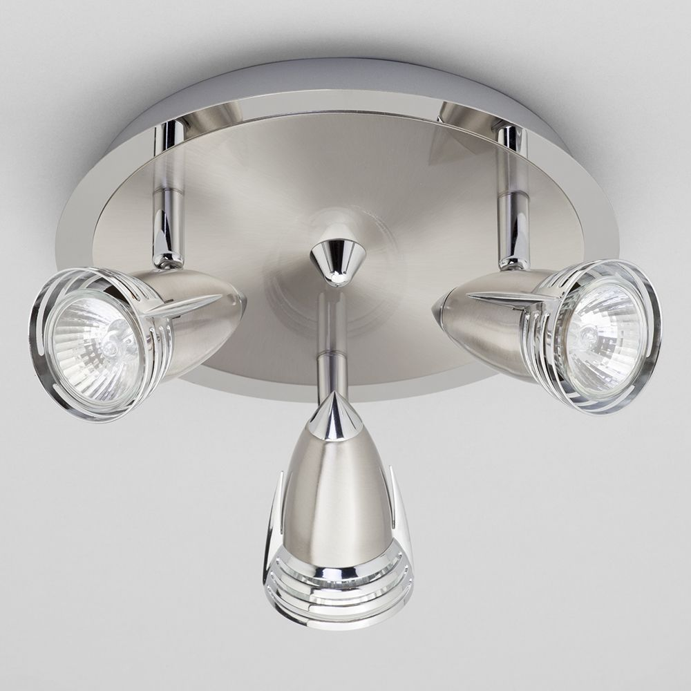 Gemini Ceiling Spotlight Plate 3 Light Satin Nickel