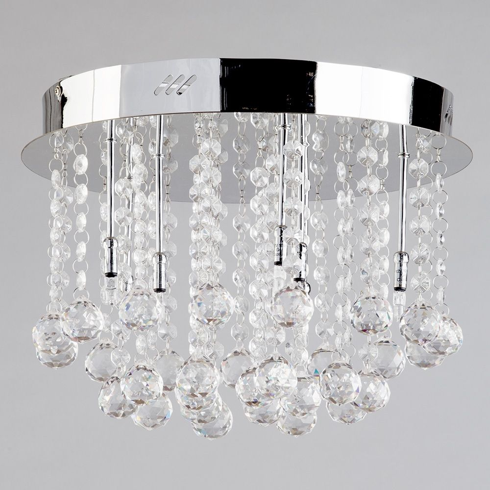 Crystal Flush Ceiling Light Melanie from Litecraft