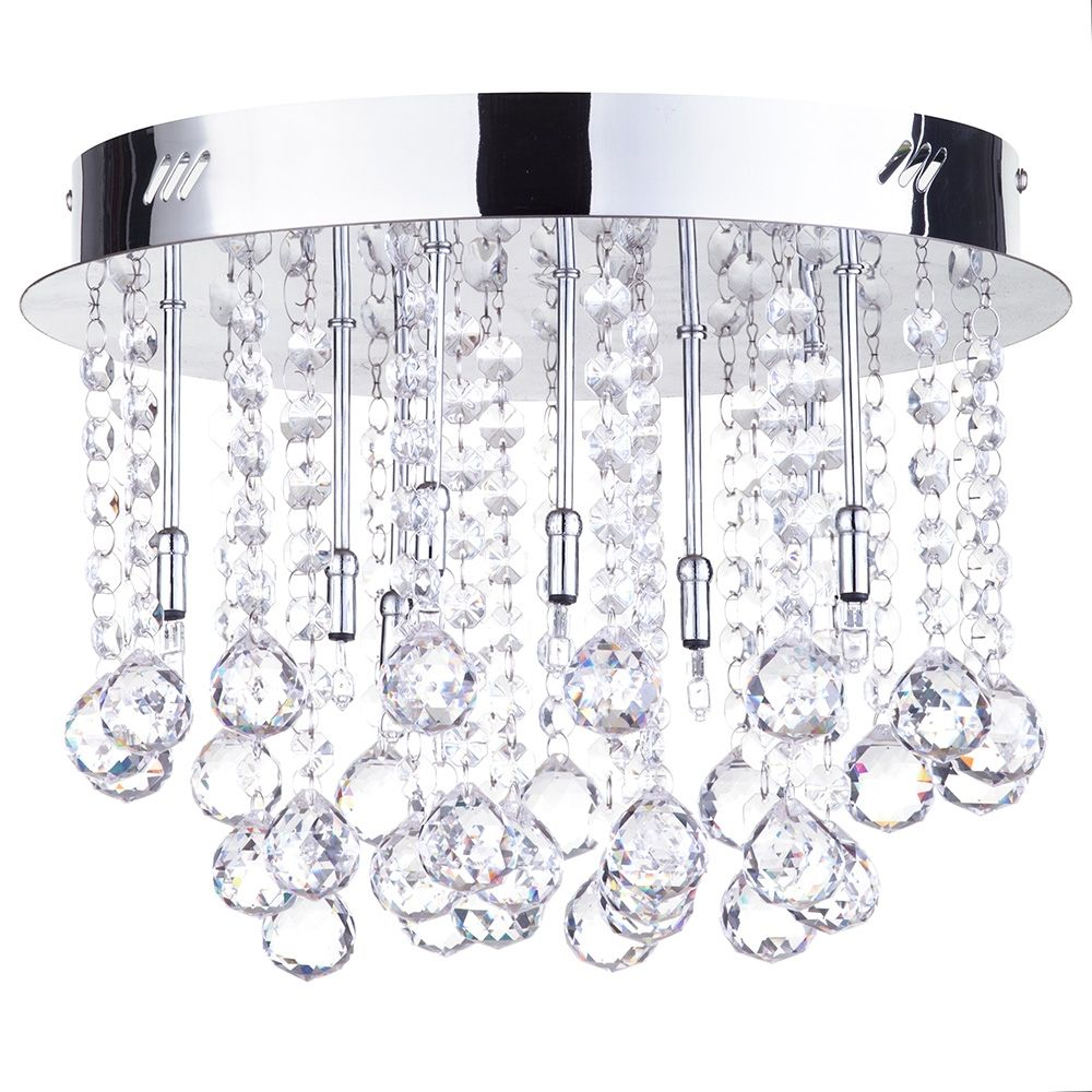 Crystal flush ceiling light melanie from litecraft chrome flush ceiling light fastfree delivery mozeypictures Image collections