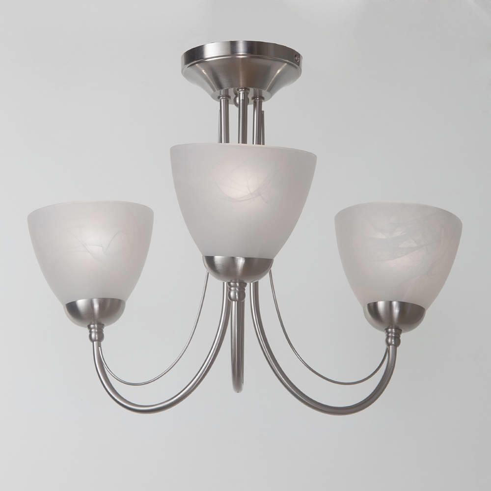 Ceiling light barcelona 3 light satin chrome from litecraft simple elegant design ceiling lights aloadofball Gallery