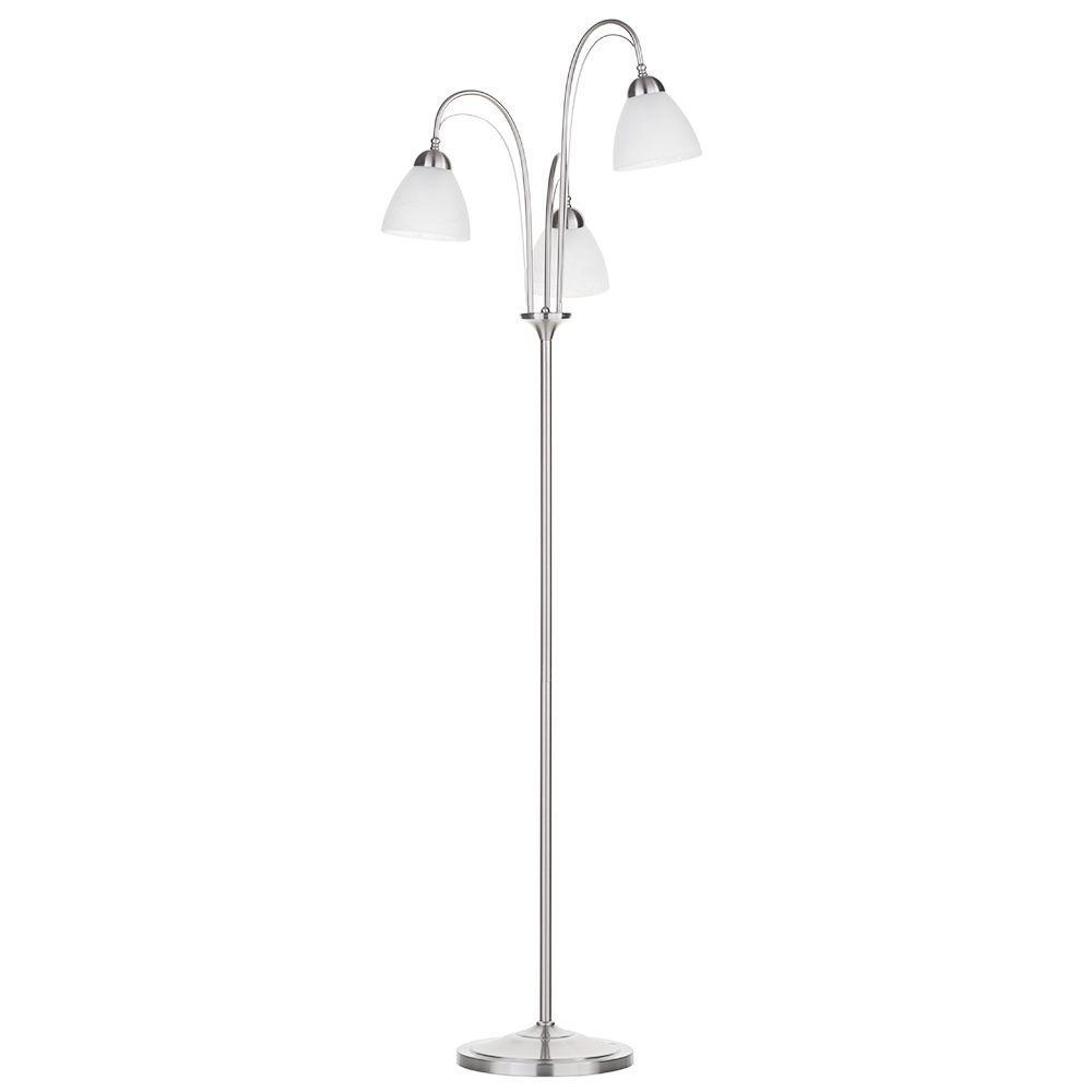 3 arm floor standard lamp decorative standing home light for Darlington floor lamp chrome
