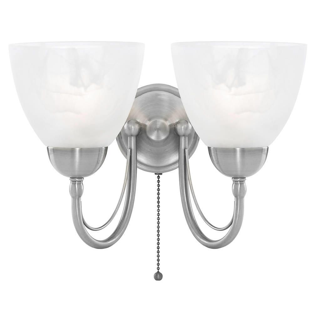 Chrome Internal Wall Lights : Barcelona Wall Light - 2 Light - Satin Chrome from Litecraft