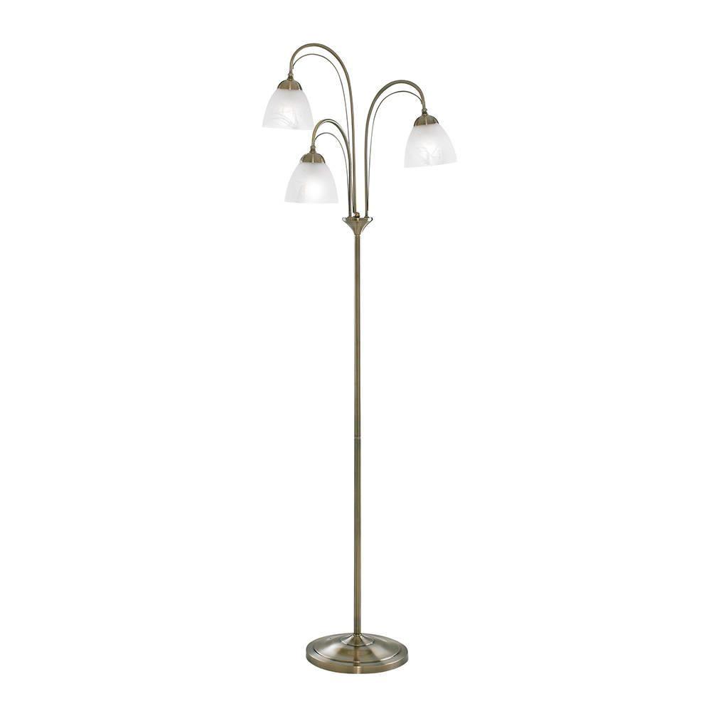 Barcelona Antique Brass Floor Lamp From Litecraft