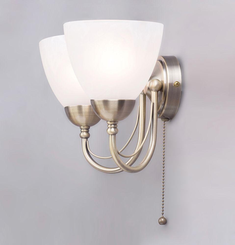 Barcelona wall light 2 light antique brass from litecraft wall lights glass shades mozeypictures Images