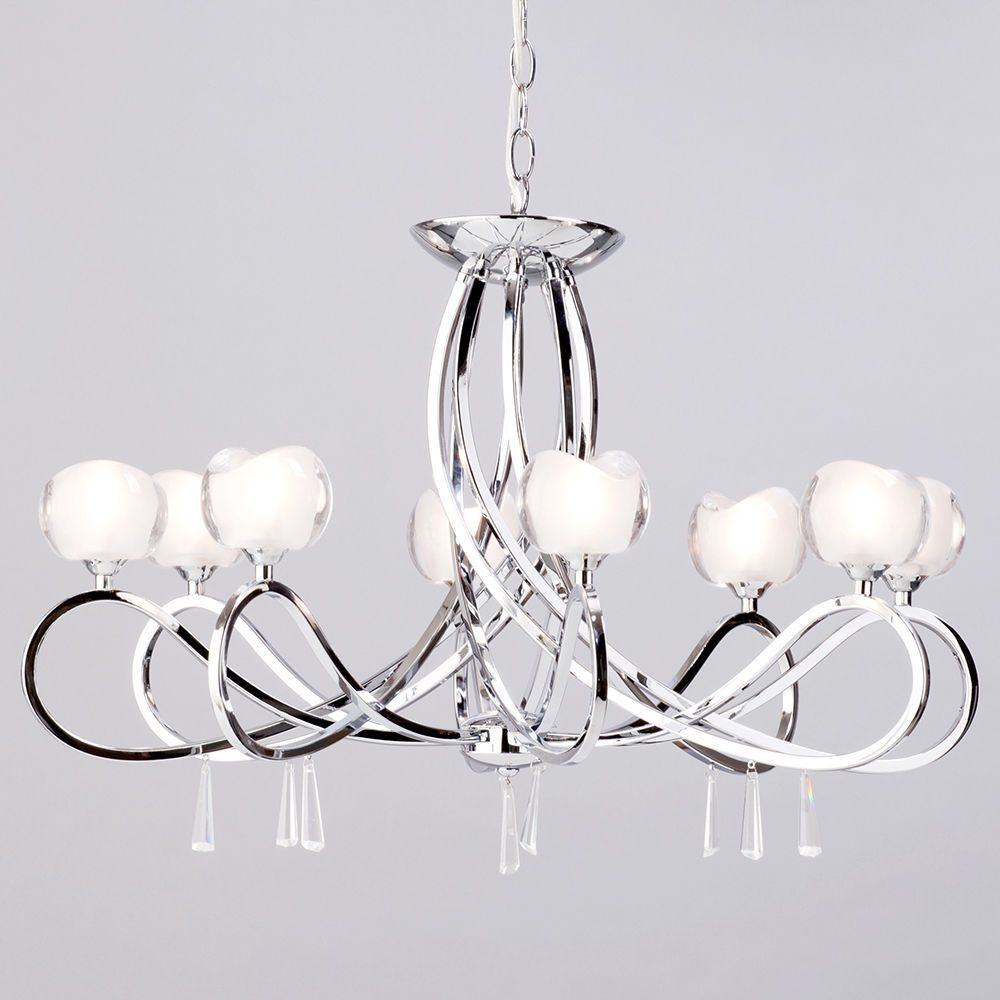 Marta 8 light chrome ceiling light from litecraft pretty femine pendant light tulip shape design inspired aloadofball Images