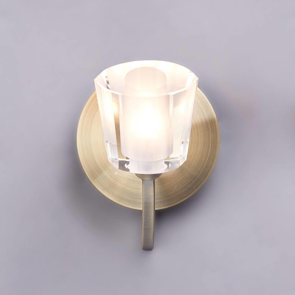 Wall Lights On Saturday Kitchen : Kay Glass Wall Light - Antique Brass from Litecraft