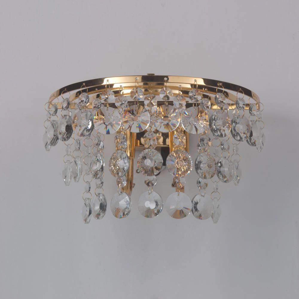 Crystal Wall Light Montego Gold From Litecraft