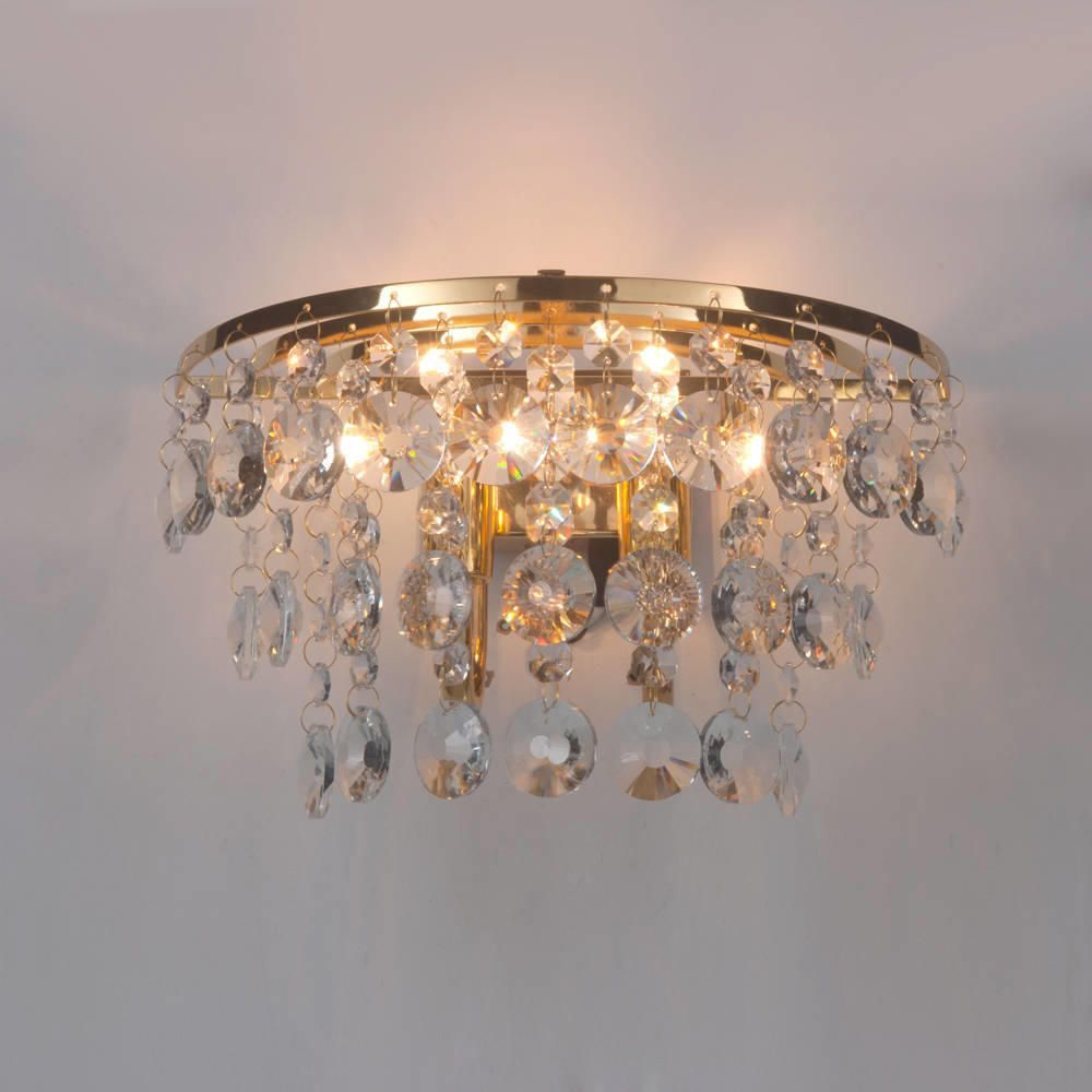 Crystal Wall Light Montego Gold From Litecraft