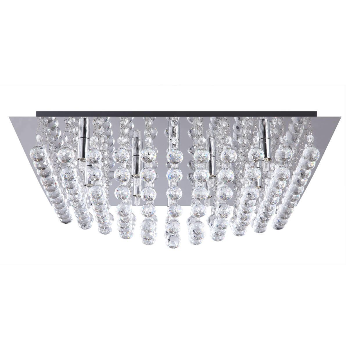 galaxy flush ceiling light k9 crystal chrome from litecraft. Black Bedroom Furniture Sets. Home Design Ideas