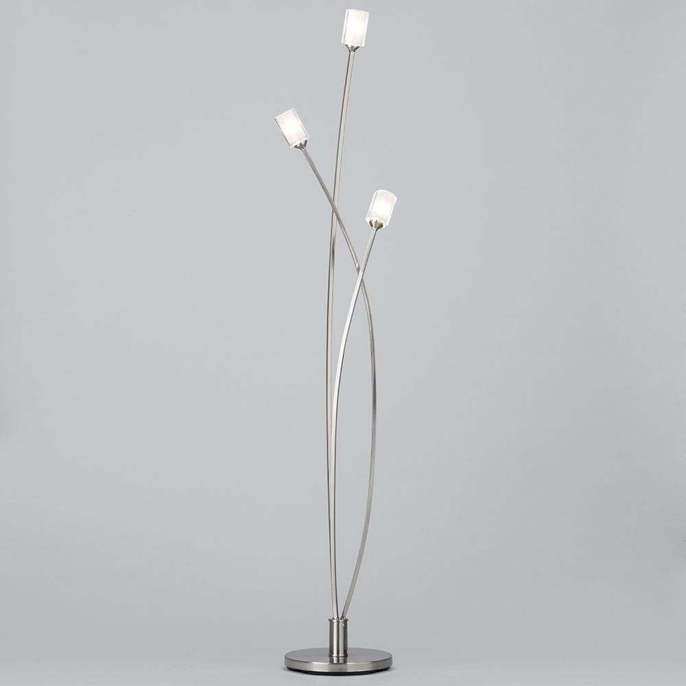 Octi 3 light floor light satin chrome from litecraft satin nickel 3 light floor lamp aloadofball Choice Image