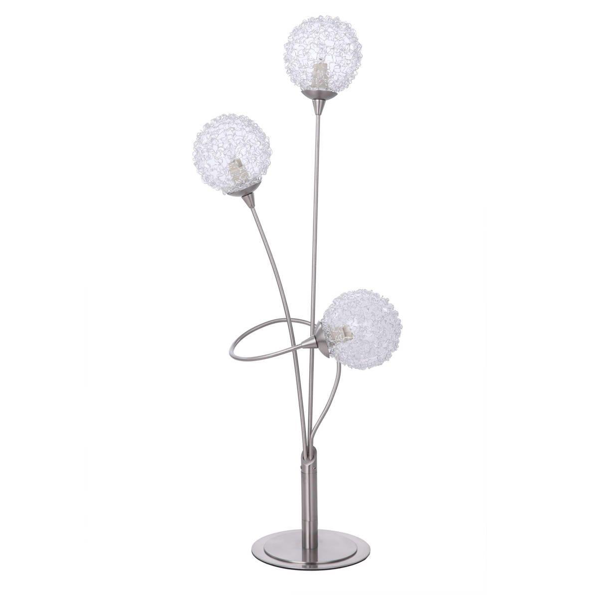 Modern Table Lamp - Allium 3 Light -Satin Nickel