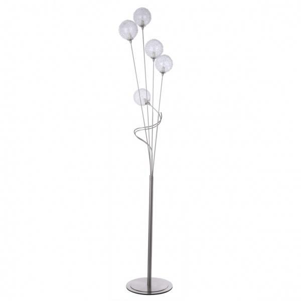 Allium 5 Light Satin Nickel Floor Lamp Litecraft FREE DELIVERY *