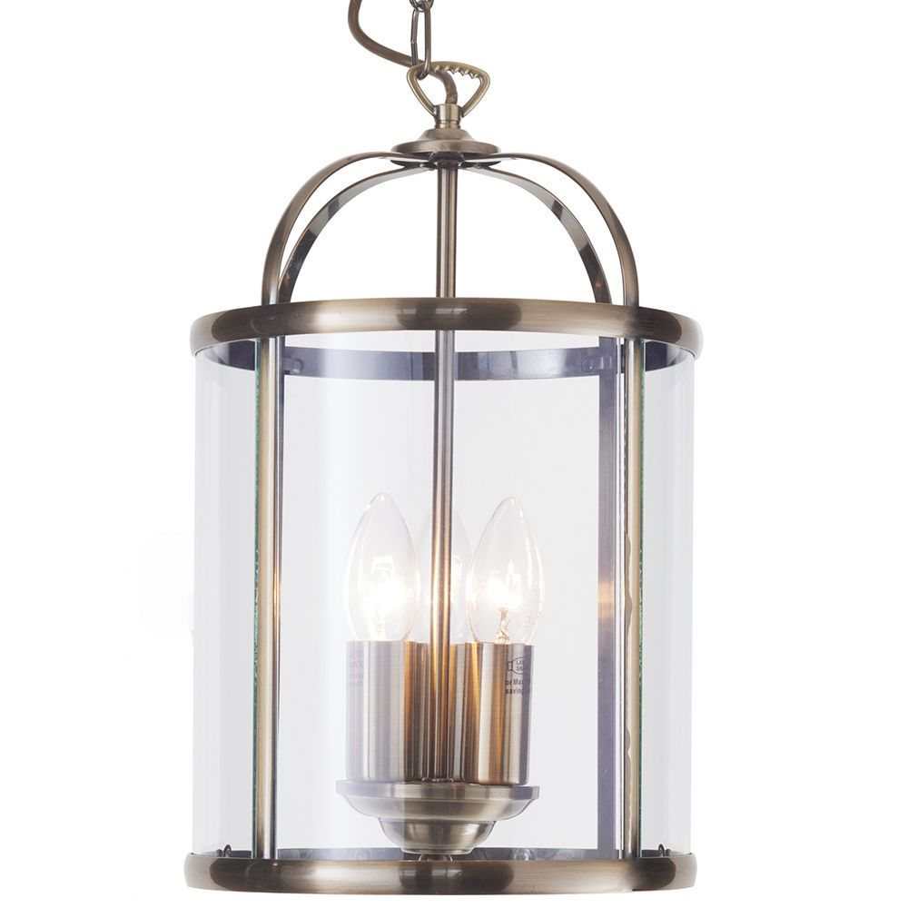 3 Light Hall Lantern Ceiling Pendant